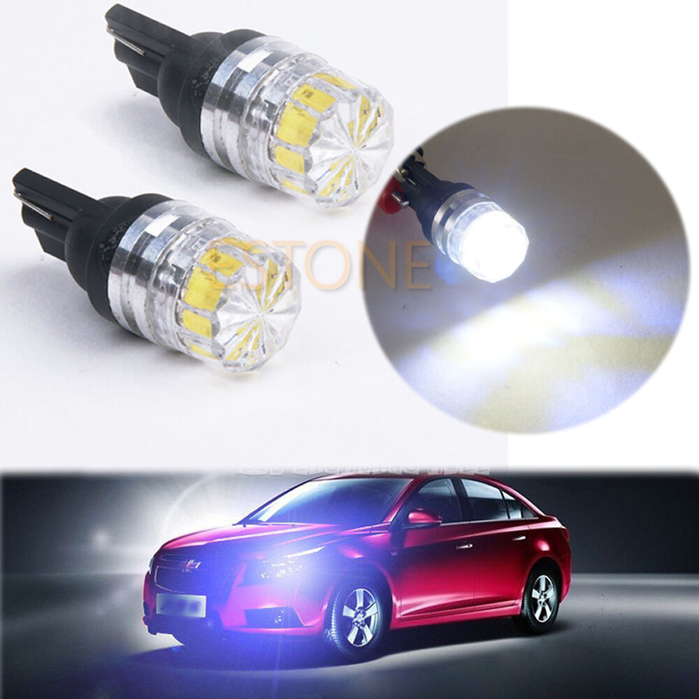 2X T10 5050 5 SMD White LED Car Vehicle Side Tail Lights