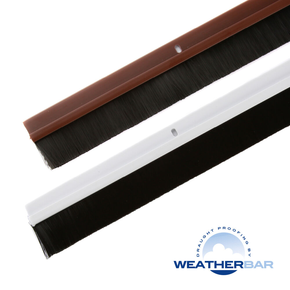 Weatherbar door brush draught draft excluder 33 36 for Door draught excluder