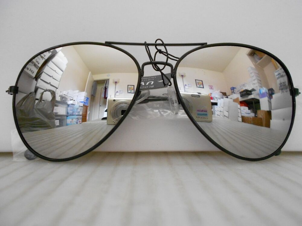 Large Framed Mirror Glasses : Aviator Mirrored Sunglasses Large Silver Mirror Lenses ...