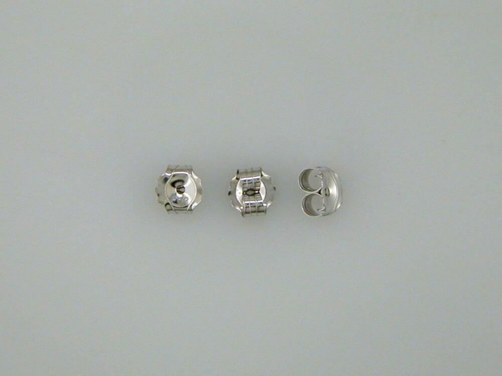friction back earrings one pair medium weight friction earring backs white gold 6343