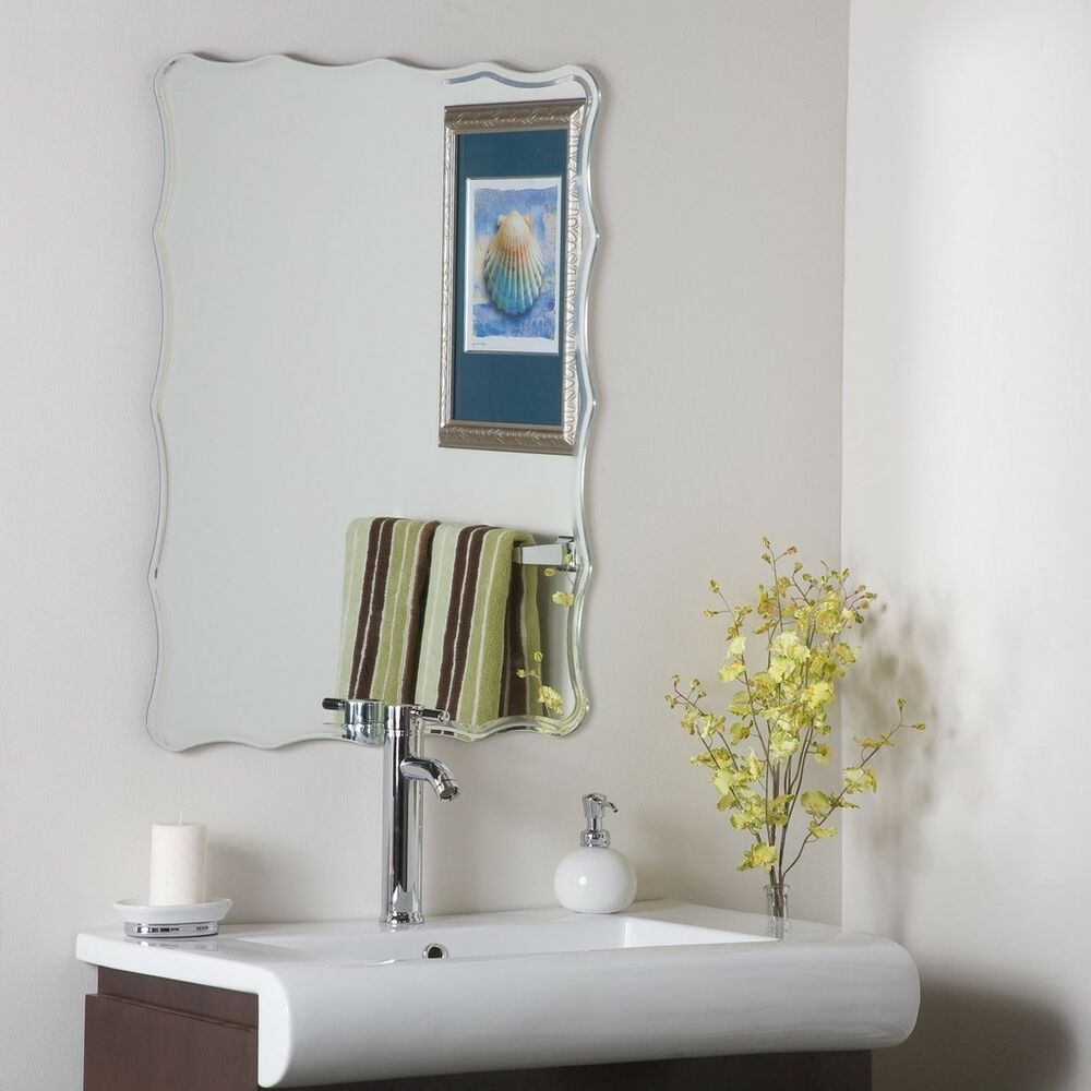 Frameless Bathroom Ridge Mirror Hall Designer Bevel
