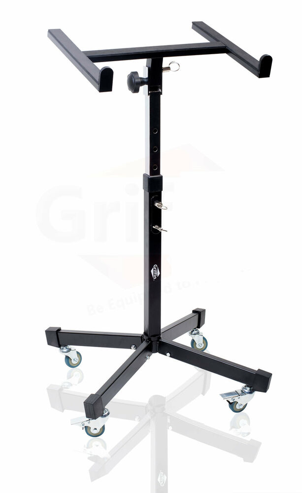 Mobile Studio Mixer Stand On Wheels Portable Cart