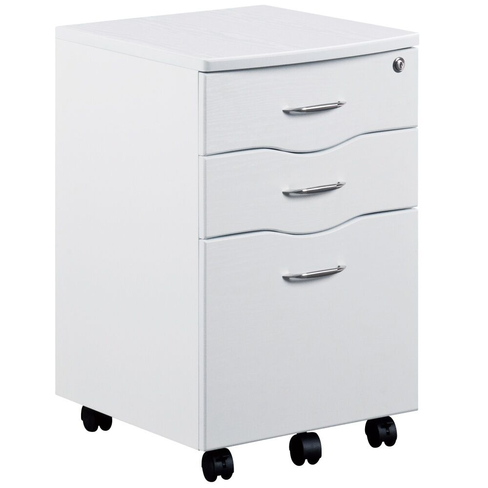 white desk with file drawer 3 drawer office filing cabinet pedestal desk in white new 28557