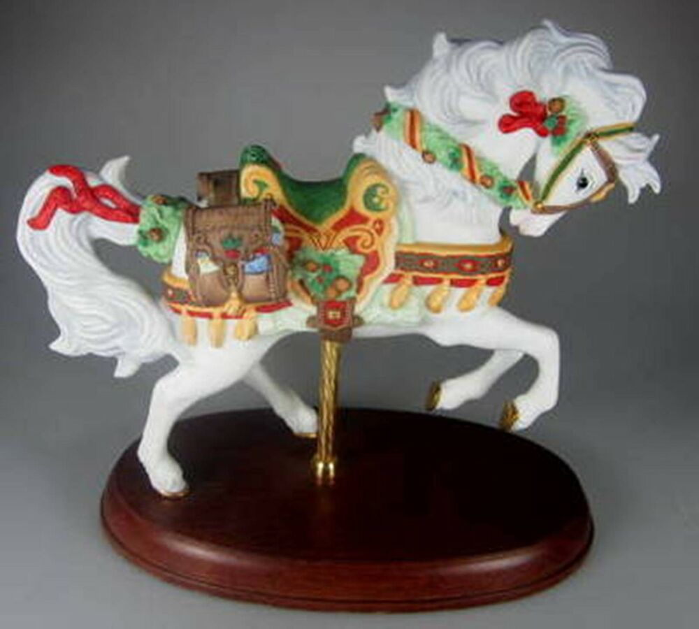 Lenox annual christmas carousel horse with box ebay