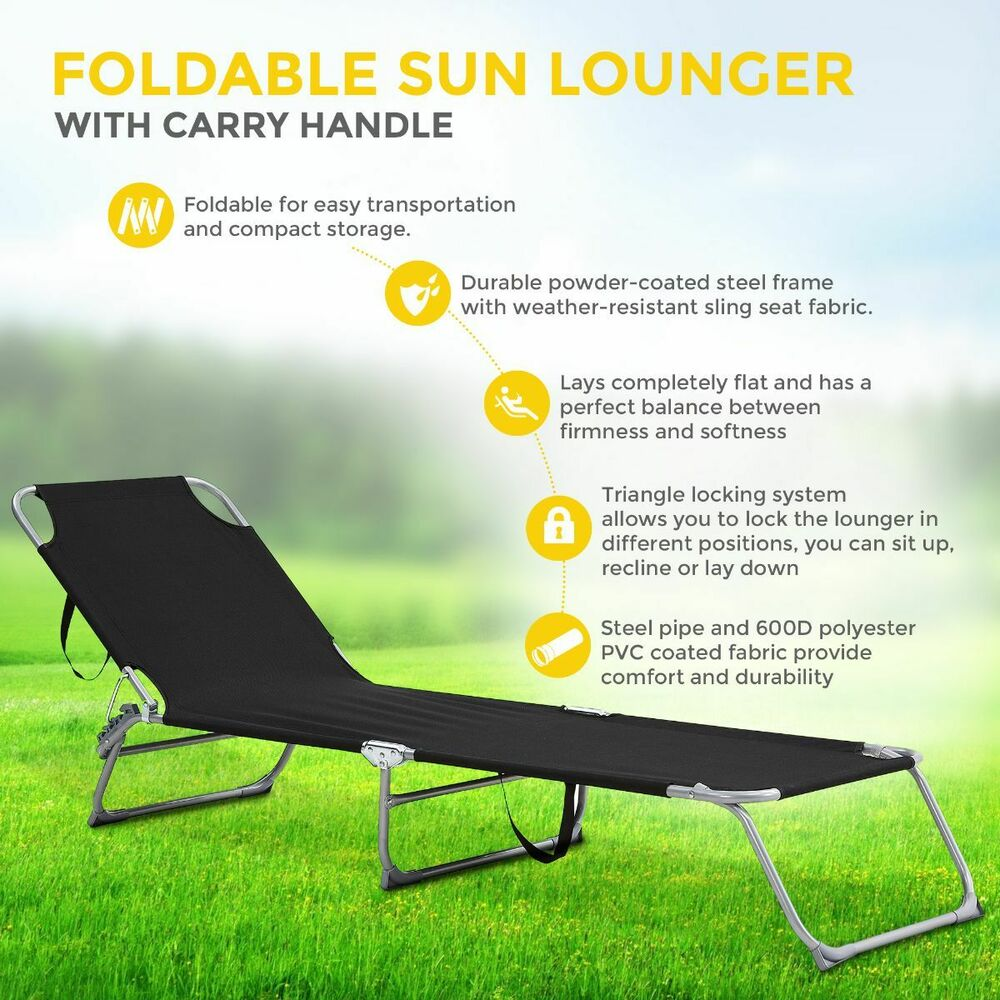 New comfortable adjustable folding sun lounger bed mat for Chaise longue de plage pliante