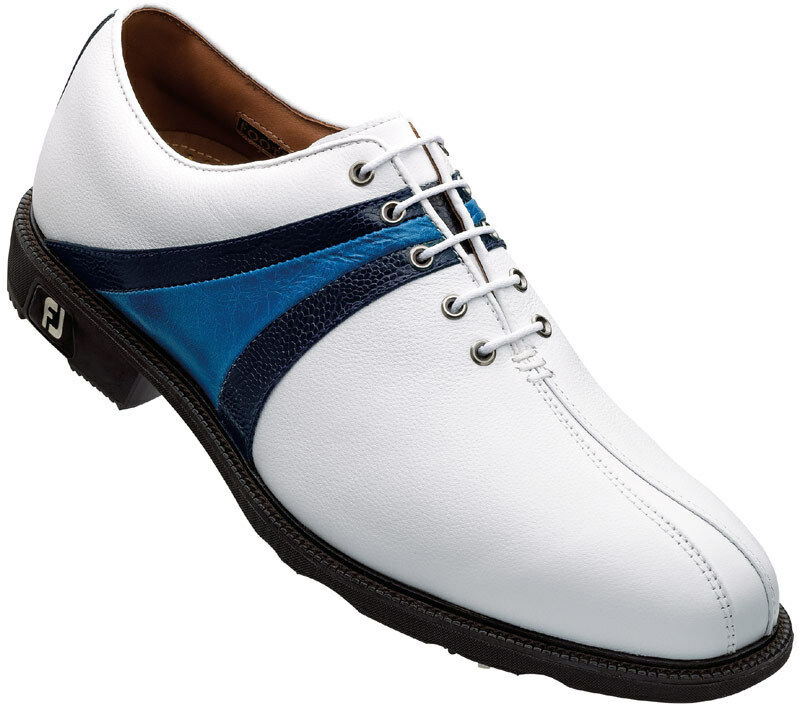 FOOTJOY ICON GOLF SHOES CLOSEOUT WHITE/NAVY 52149 MENS | eBay