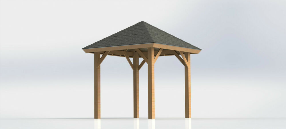 Square gazebo with open sides plans 10 39 x 10 39 perfect for How to build a square gazebo