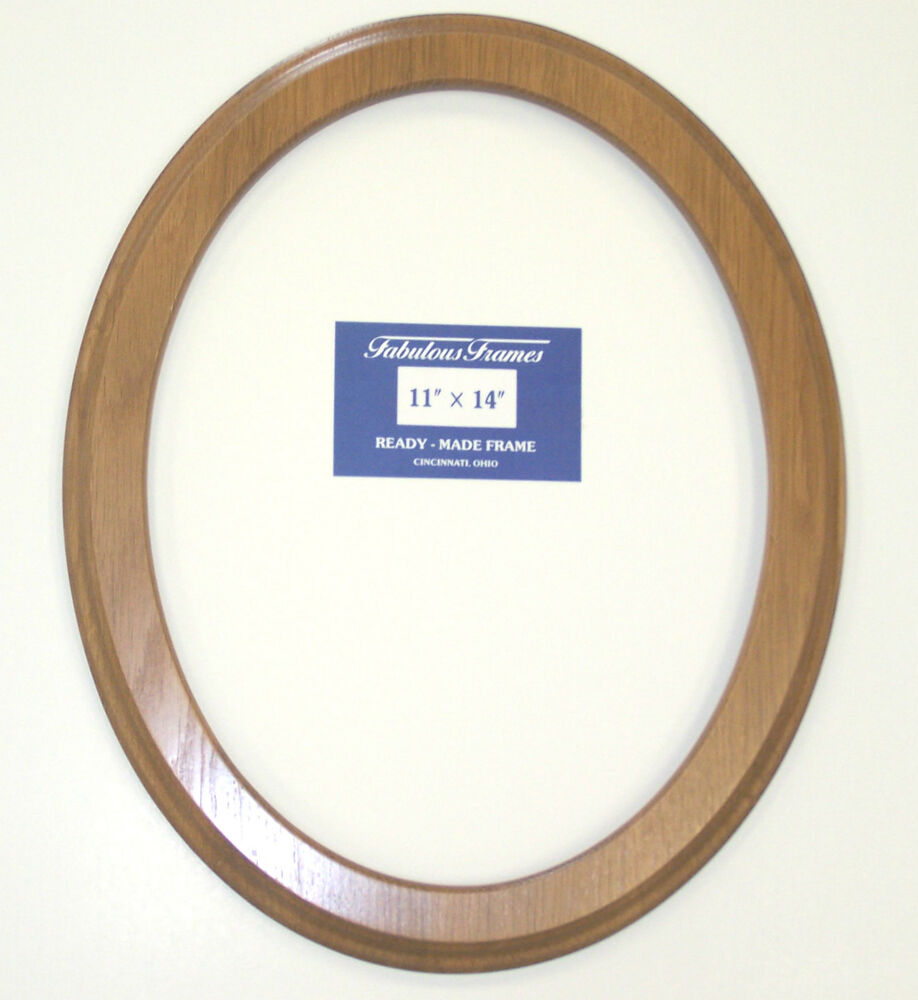 New 11 Quot X14 Quot Honey Light Oak Oval Ready Made Picture Photo