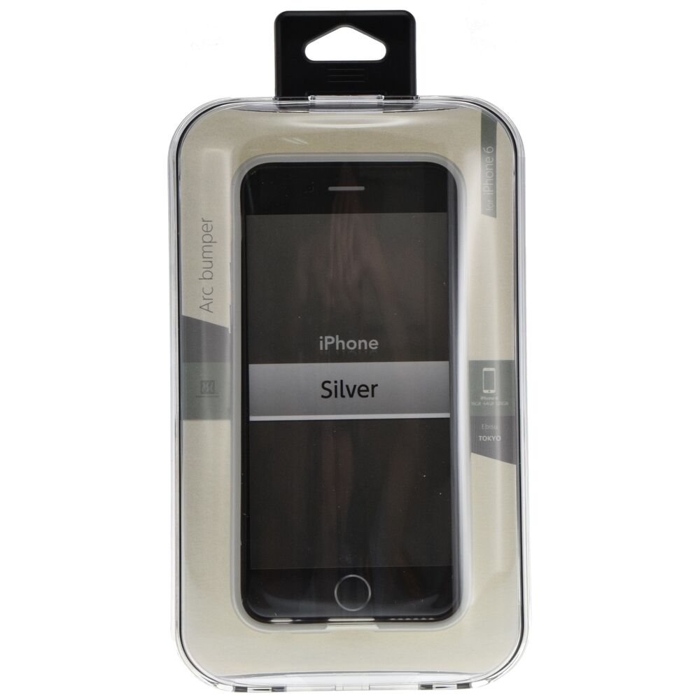 power support arc bumper silver resilient protection for apple iphone 6 6s ebay. Black Bedroom Furniture Sets. Home Design Ideas