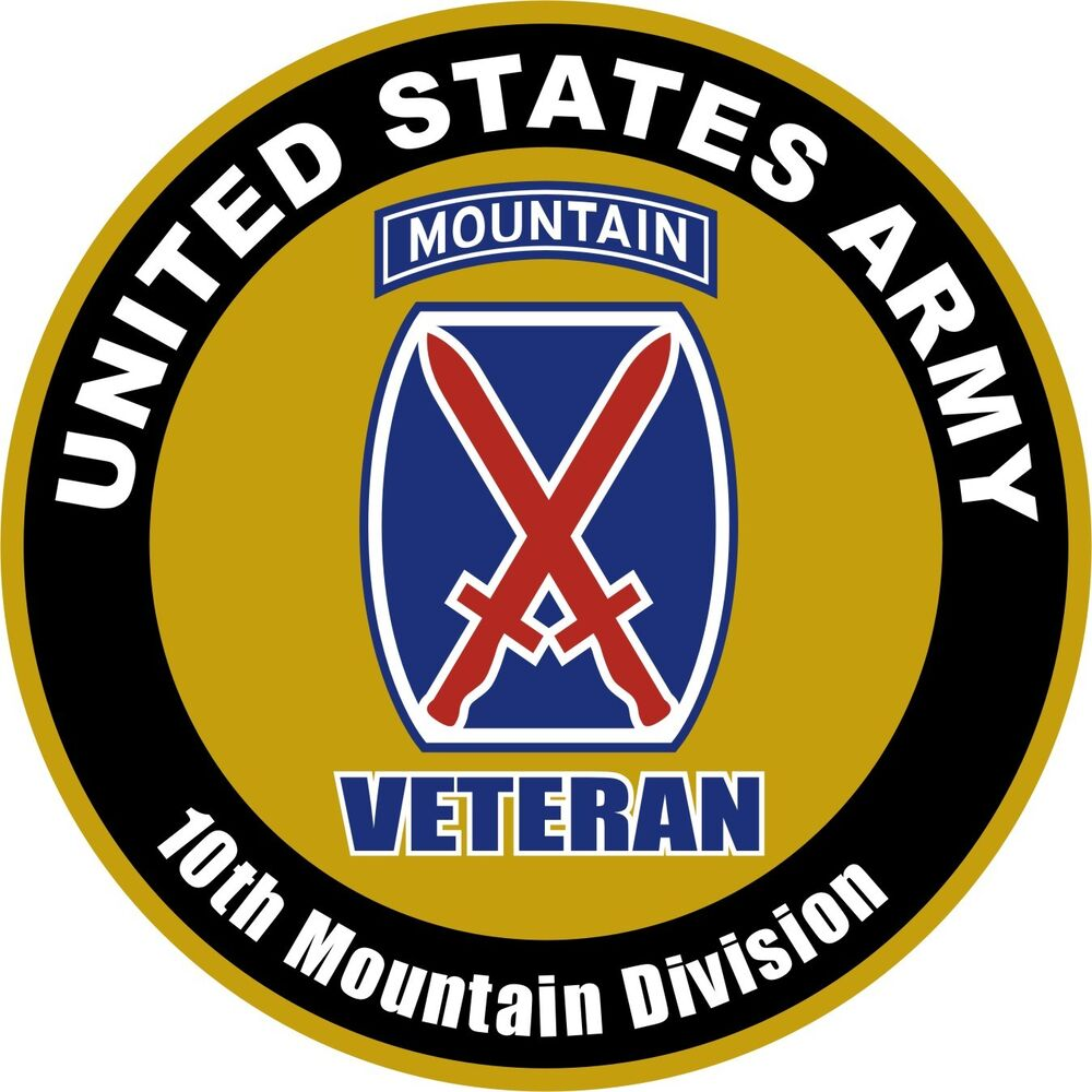 UNITED STATES VETERAN Army 10th Mountain Division Decal ...