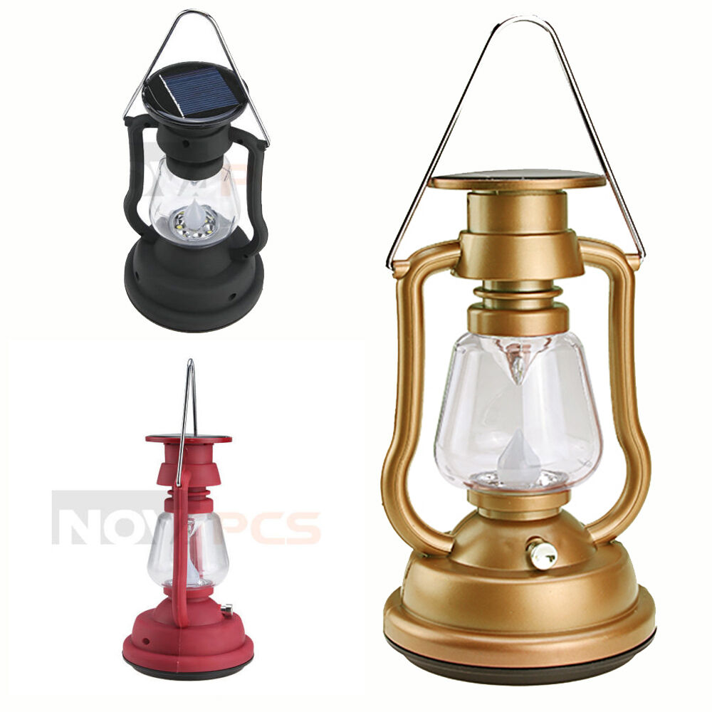 New Solar Cells Panel 7 Led Lantern Camp Light Hand Crank