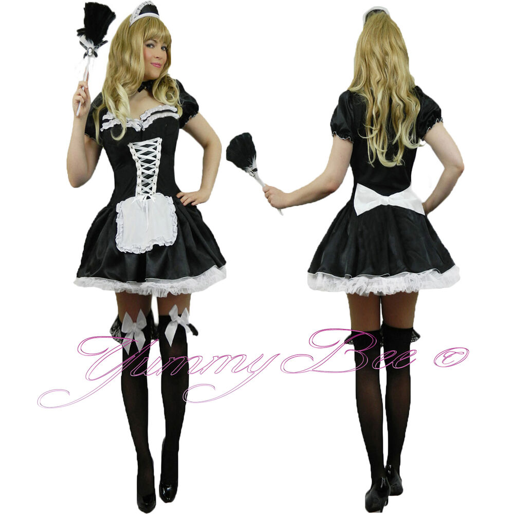 yummy bee french maid fancy dress costume outfit plus size
