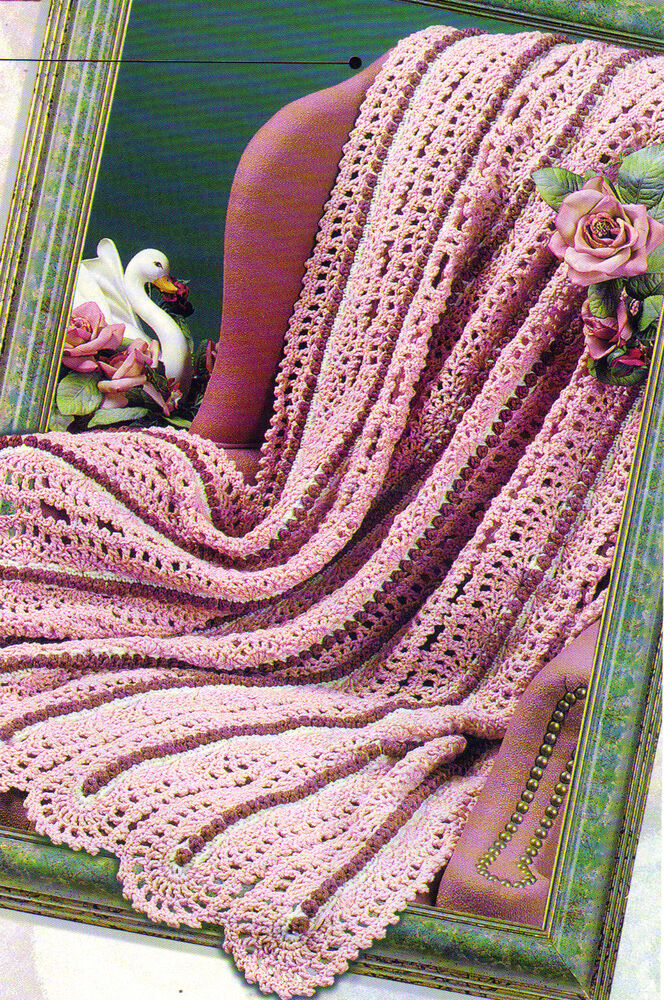 BEAUTIFUL Surface Lace Afghan/Crochet Pattern Instructions ...
