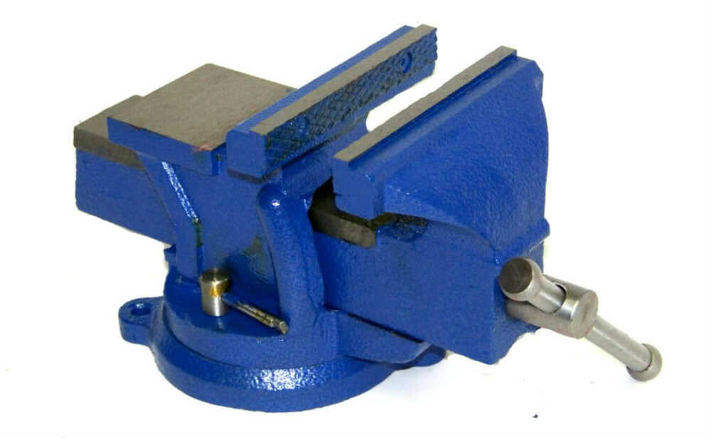 Heavy duty 5 bench vise with anvil swivel locking base for Table locks acquired immediately 99