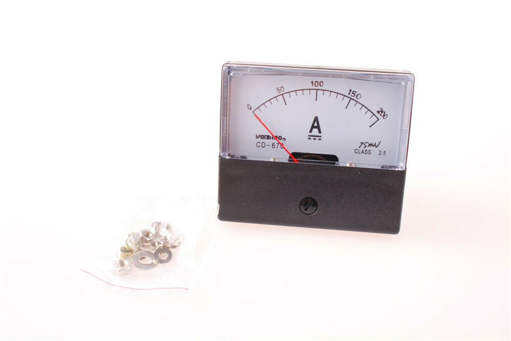 Analog Panel Meter : Analog amp panel meter current ammeter dc a ebay