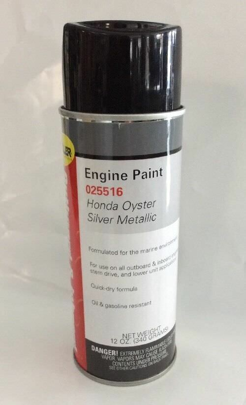 Honda outboard paint oyster silver metallic 4 stroke for How to make silver paint