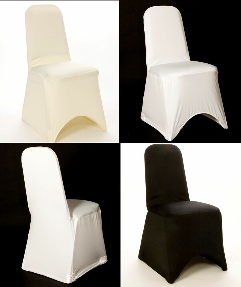 100 Spandex Lycra Chair Covers White Black Amp Ivory Round