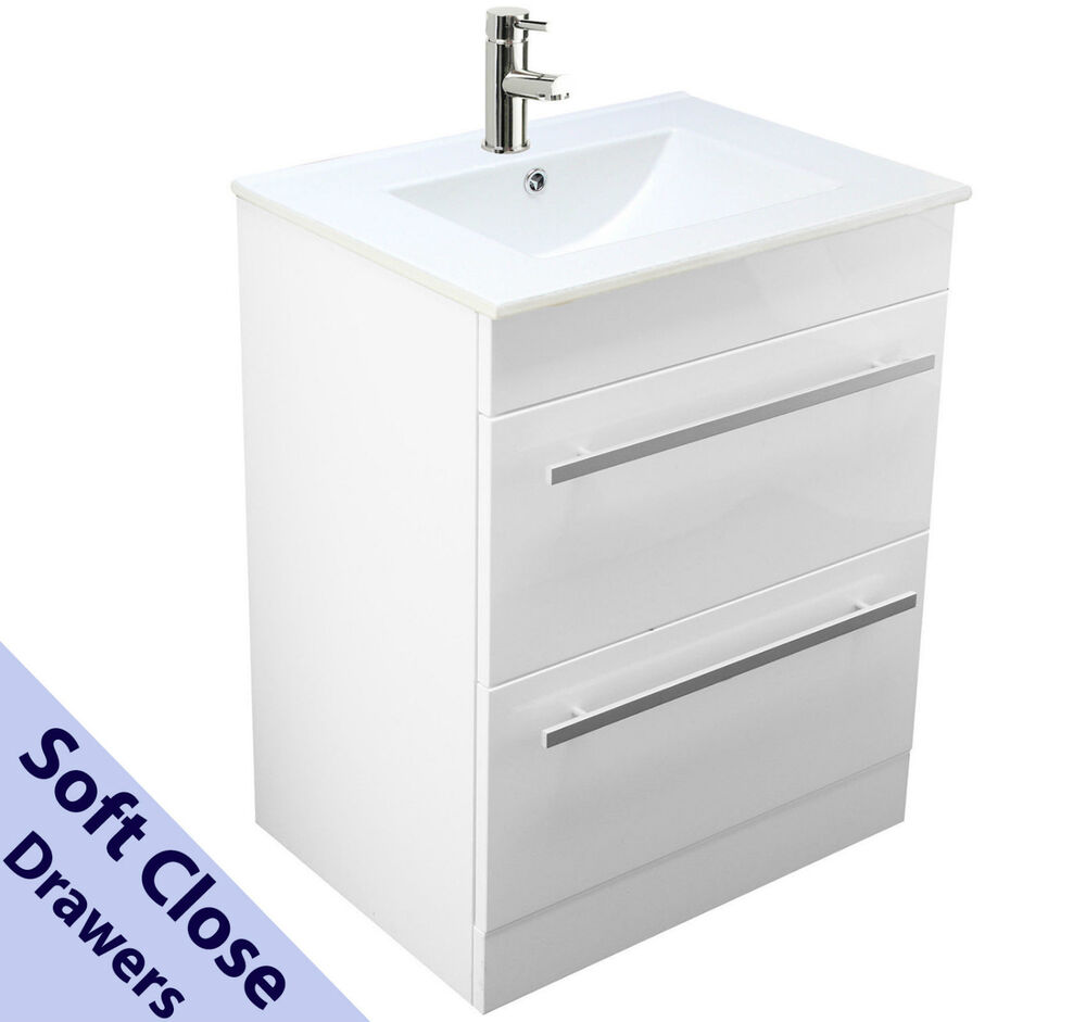 bathroom vanity unit basin sink tap 600mm square floor