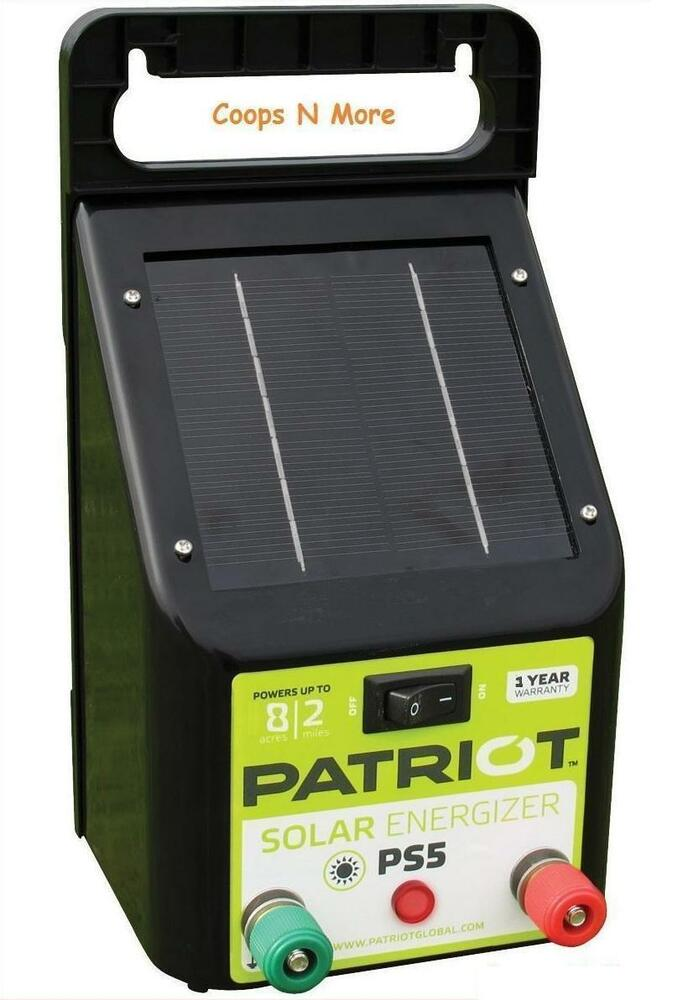 Patriot Ps5 Solar Fencer Electric Fence Energizer Charger