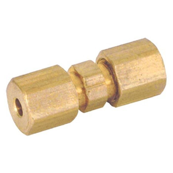 Quot od compression union coupling lead free brass