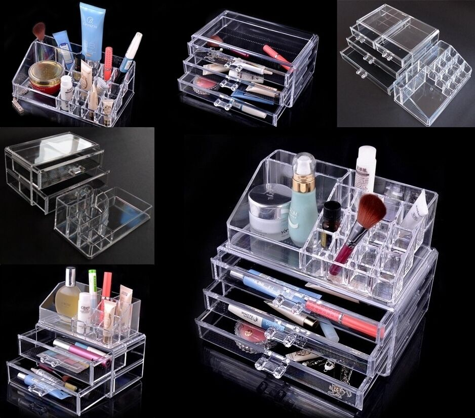 cosmetic organizer luxury jewelry acrylic makeup case. Black Bedroom Furniture Sets. Home Design Ideas