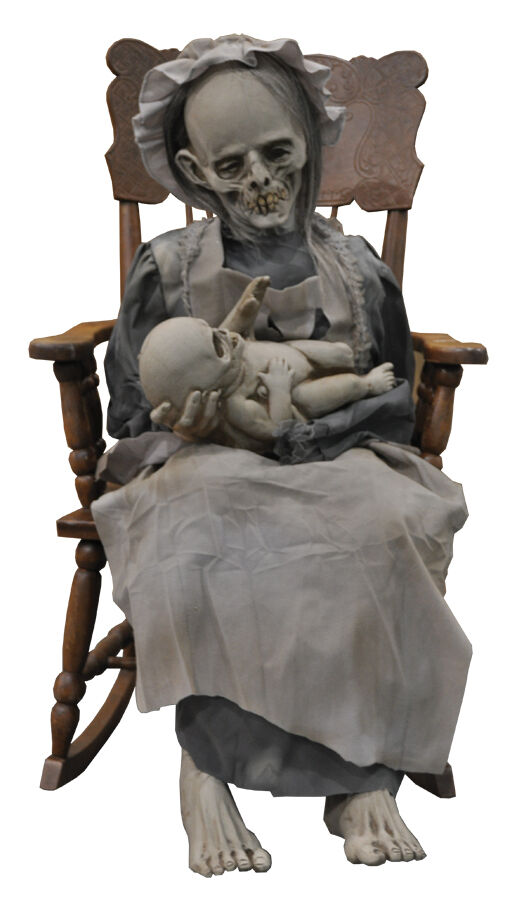 Halloween Life Size Animated Lullaby Baby Ghoul Horror