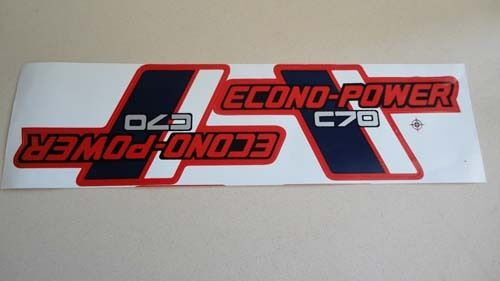 honda c70 side covers red paper stickers logos decals