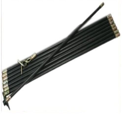 extra long drain rod kit with rubber plunger and 50mm. Black Bedroom Furniture Sets. Home Design Ideas