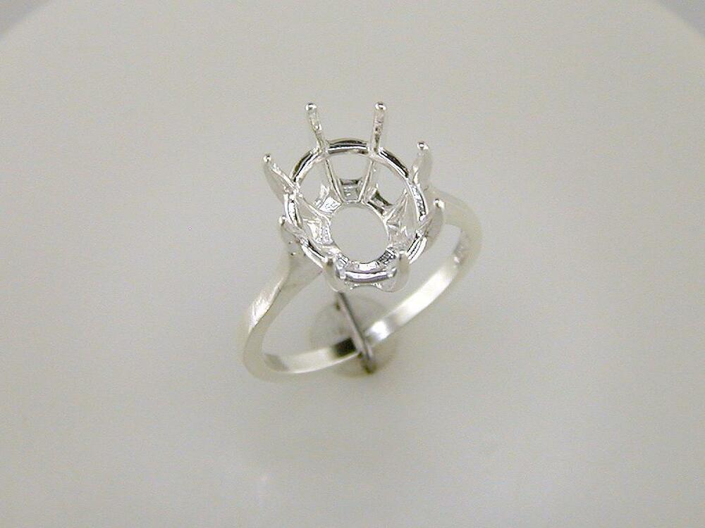 8 prong oval ring setting sterling silver ebay