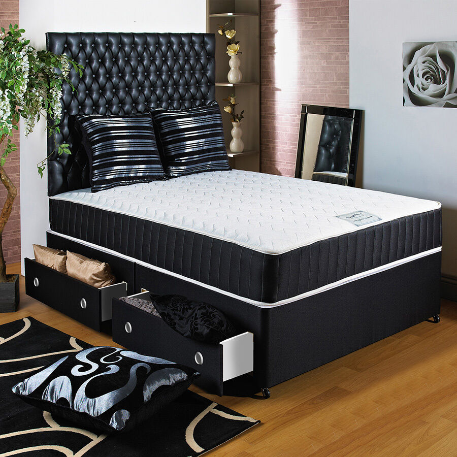 6ft super kingsize divan bed 11 ortho memory foam for Divan beds double 4ft 6 sale