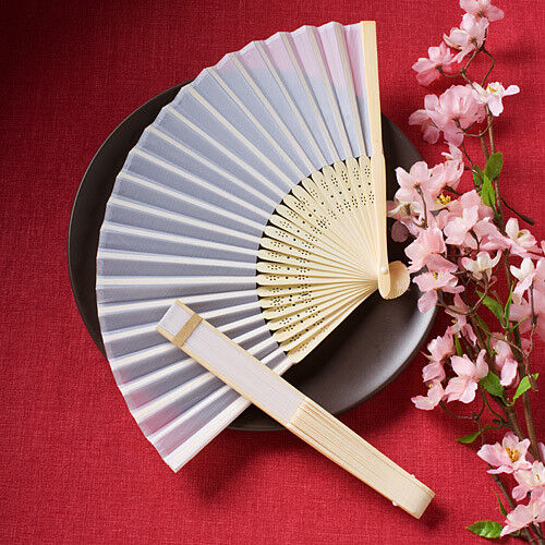 Elegant silk fans asian wedding favor gift party reception delicate