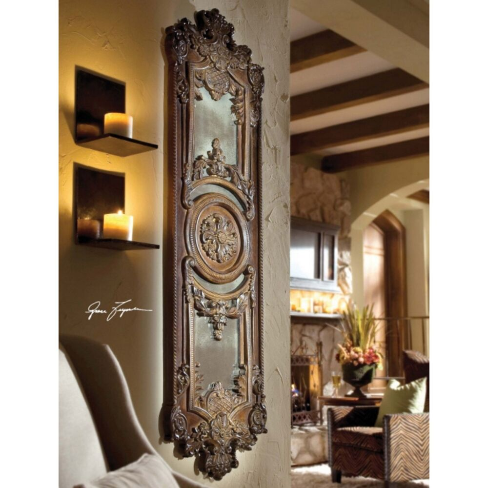 Luxury Home Decor Accents Mirrors More At Horchow: Horchow Mirrored Wall Plaque Art Panel Decor XL Mirror Old