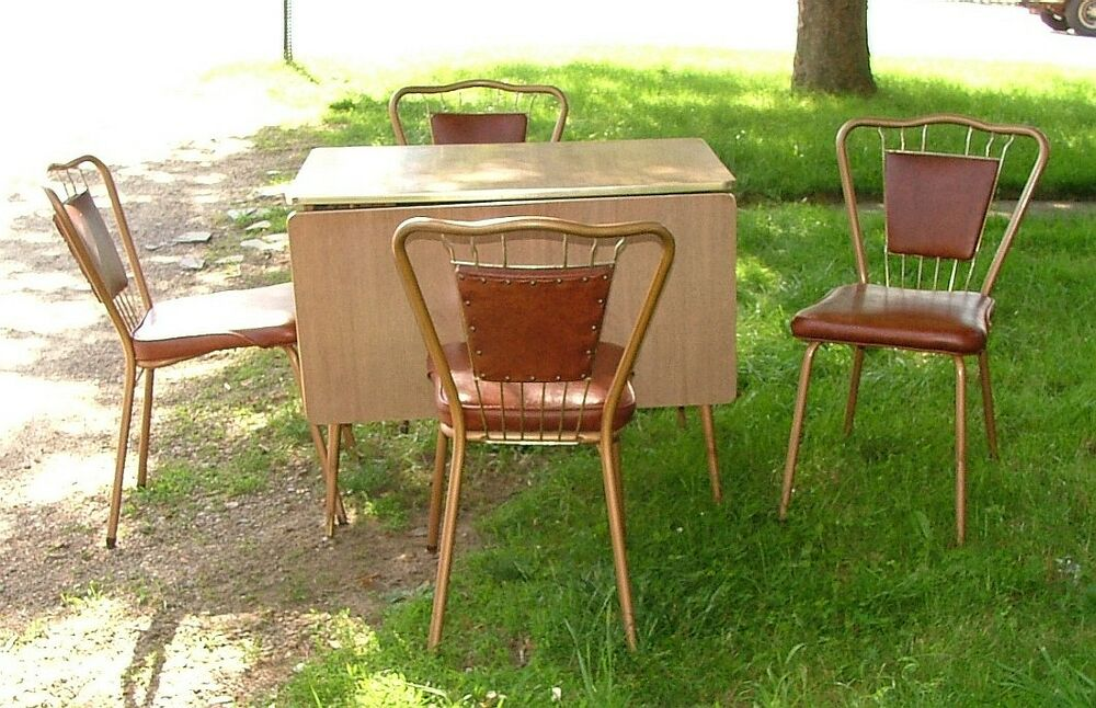 wabash kitchen set formica drop leaf table 4 wire back chairs ebay