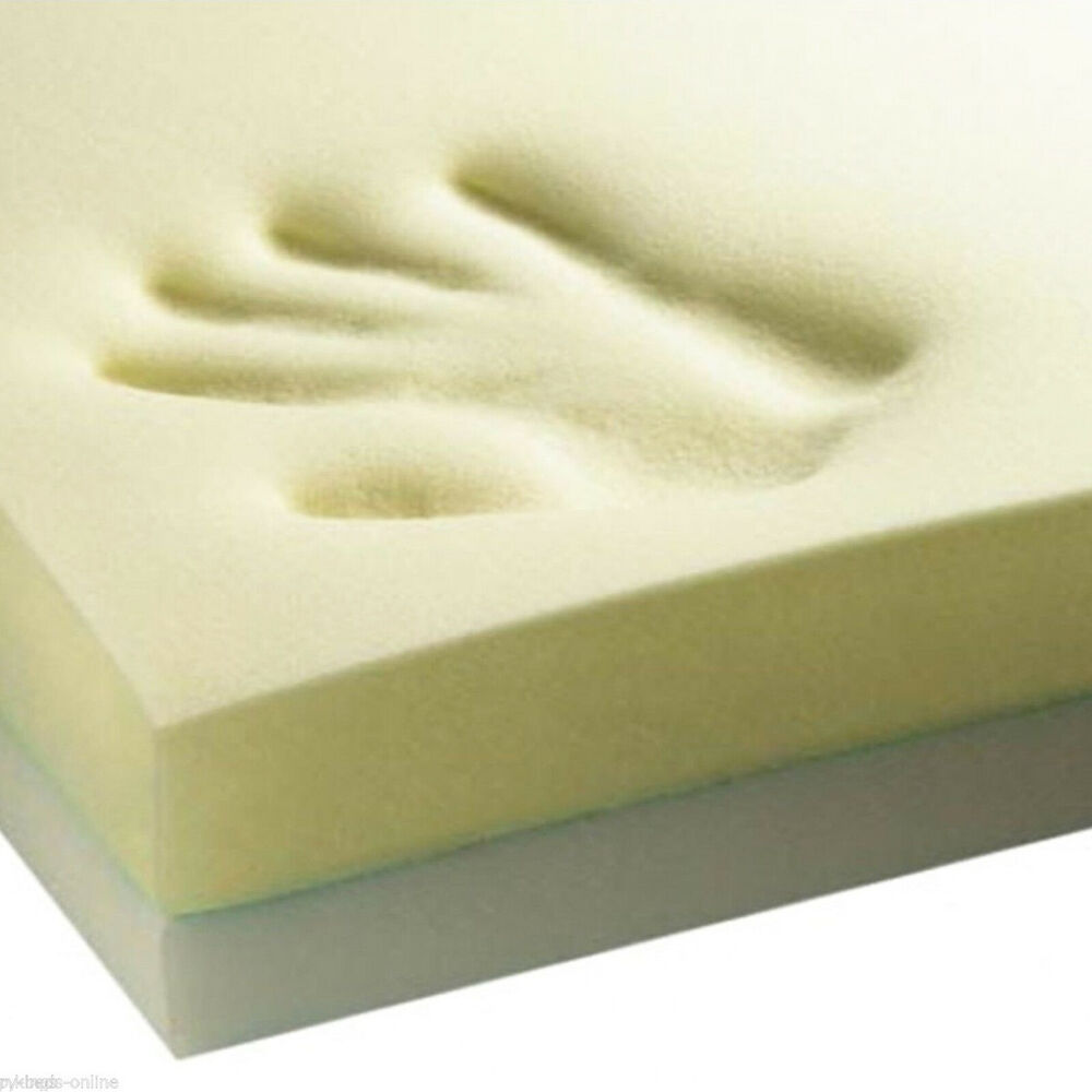2ft6 small single memory foam mattress toppers 1 2 3 4 in stock sale ebay Where to buy mattress foam