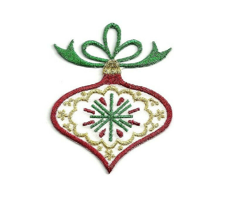 Christmas - Ornament - Embroidered In Metallics - Iron On ...