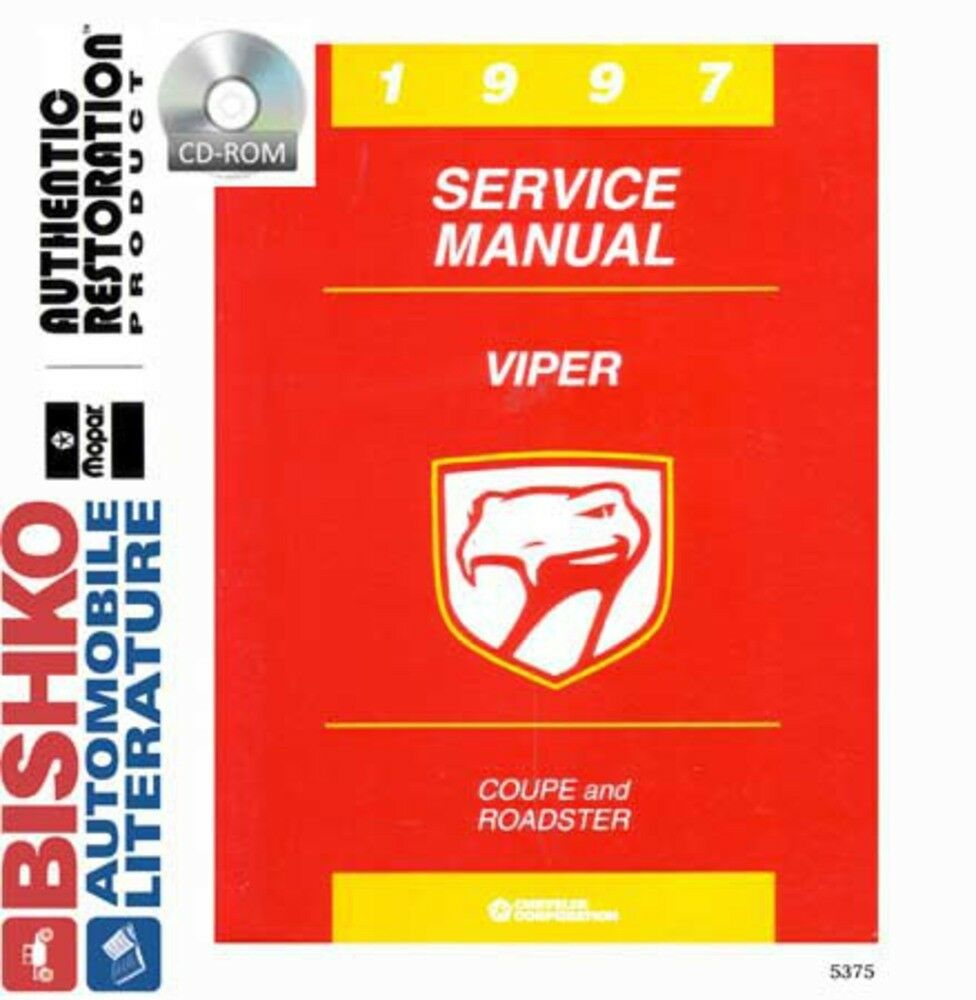 1997 Dodge Viper Shop Service Repair Manual CD Engine Drivetrain Electrical  OEM | eBay