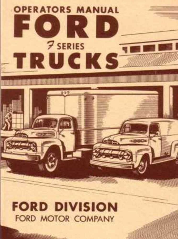 1951 Ford Truck Owners Manual User Guide Reference Operator Book Fuses Fluids Ebay