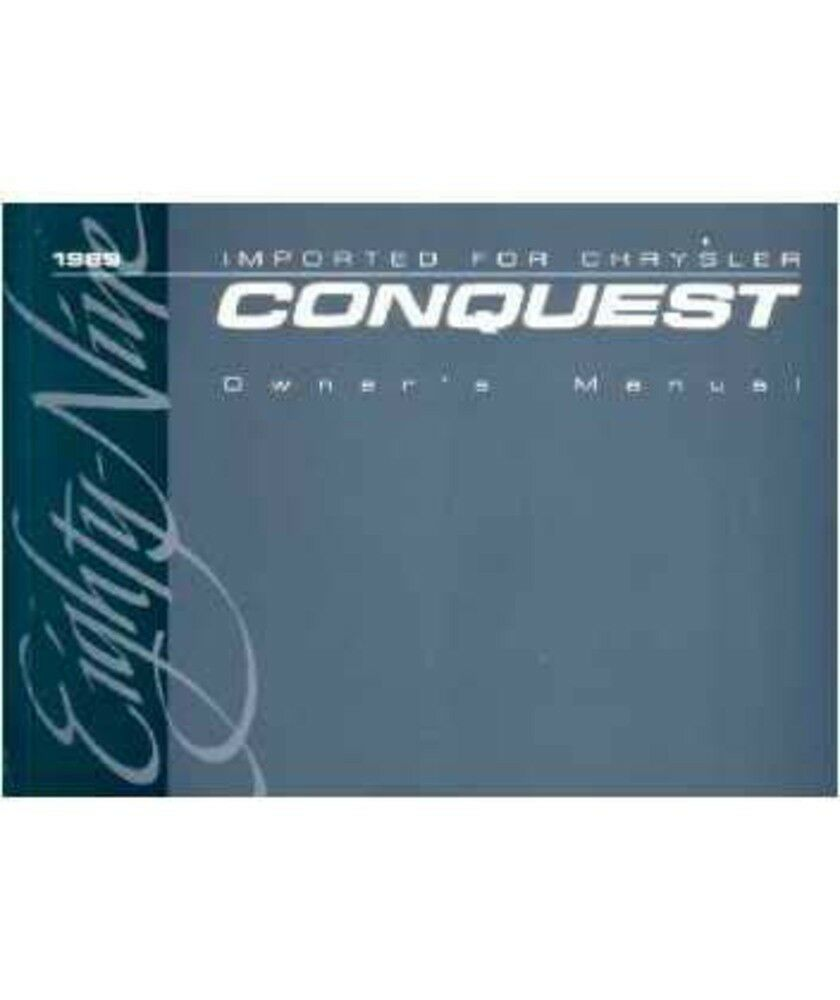 1989 chrysler conquest owners manual user guide reference