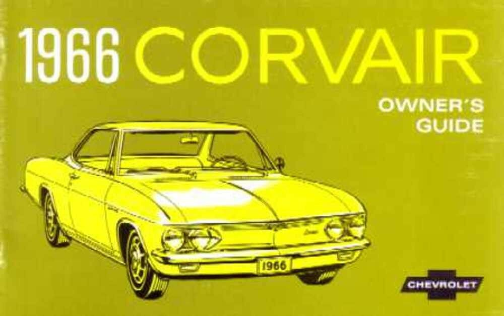 1966 Chevrolet Corvair Owners Manual User Guide Reference