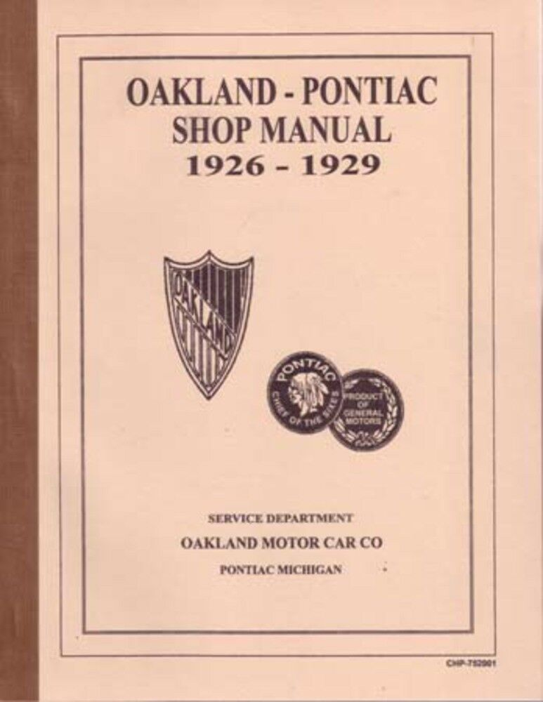 1926 1927 1928 1929 Pontiac Shop Service Repair Manual