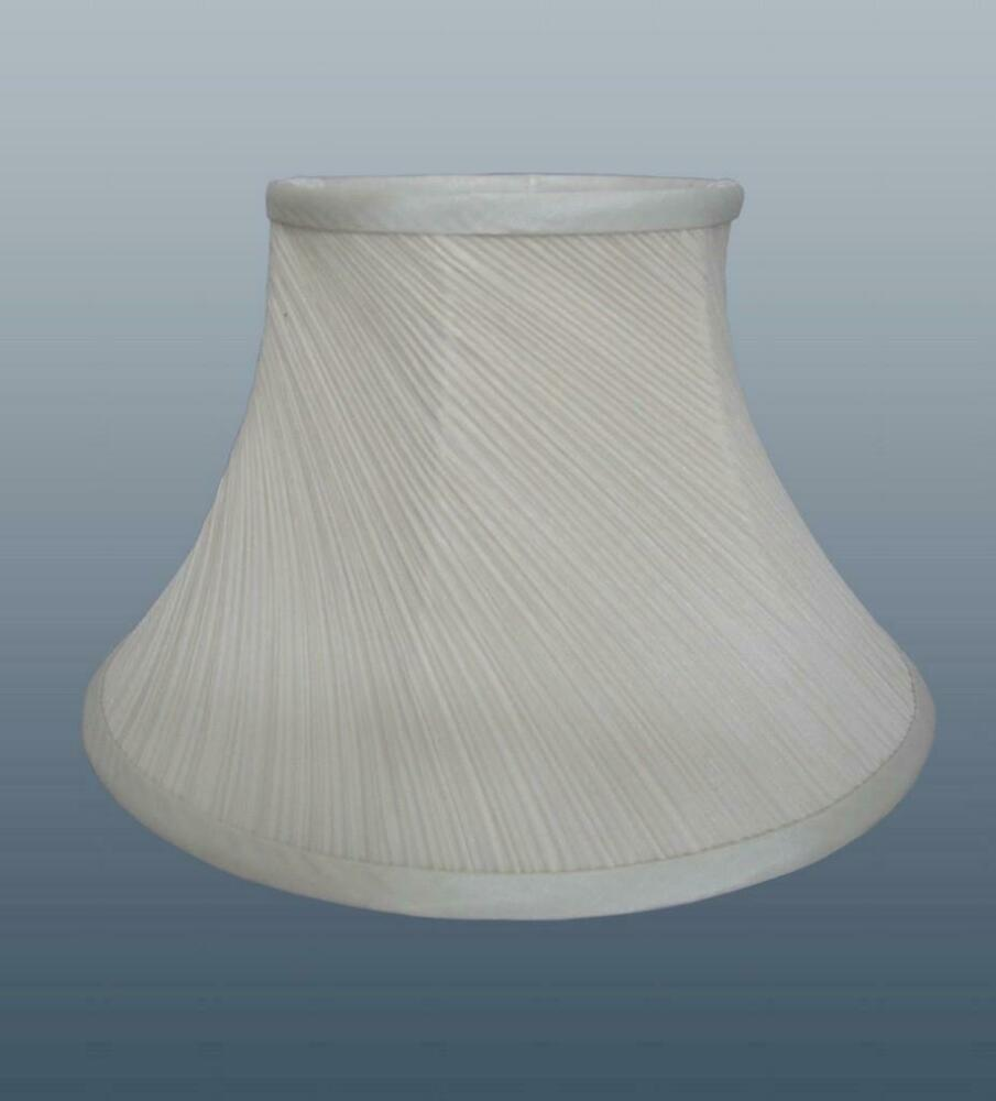 Ceiling Lamp Shade Materials: Cream Lampshade Twisted Pleat Fabric Ceiling Light Table