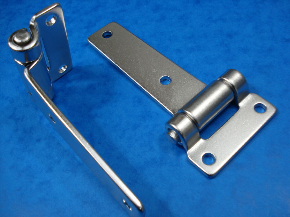 Steel T S : A pair of stainless steel heavy duty t hinges will