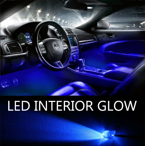 Blue led lights 20 pack interior glow lighting car truck suv ebay for Led lighting for cars interior