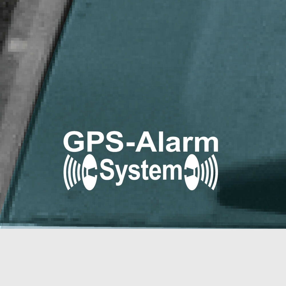 2 aufkleber tattoo gps alarm system wei f r au enseite fenster t r rahmen auto ebay. Black Bedroom Furniture Sets. Home Design Ideas