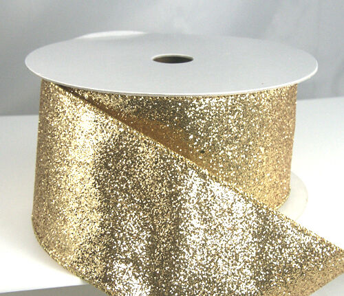 wired glitter ribbon 40 2 1 2 quot gold silver blue teal mesh ebay