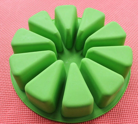 Cake Art Candy Molds : Cake Mold, Soap Mold 10-Triangle Round Mold Silicone Mould ...