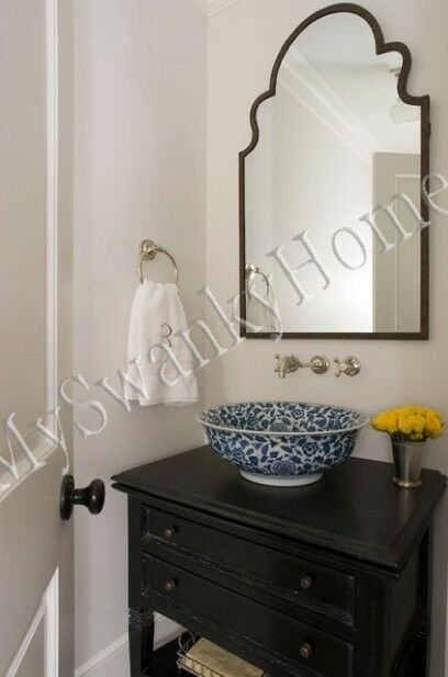 """Gorgeous Extra Large 41"""" Shaped Arch Wall Mirror Curved"""