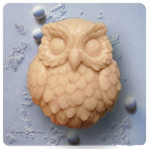 Soap Mold Moulds Cute Owl Flexible Silicone Mold For Soap