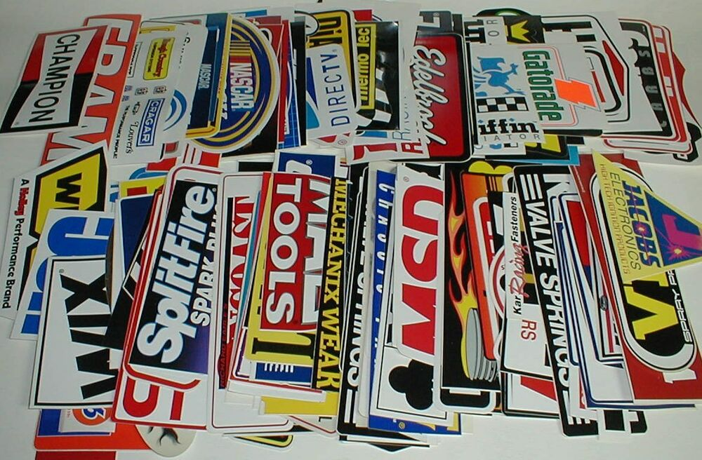 42 Full Size Grab Bag Nascar Stp Pro Drag Racing Decals