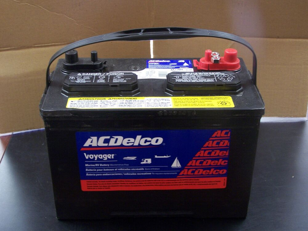 Acdelco M27mf Voyager Marine Rv Deep Cycle Sealed Battery